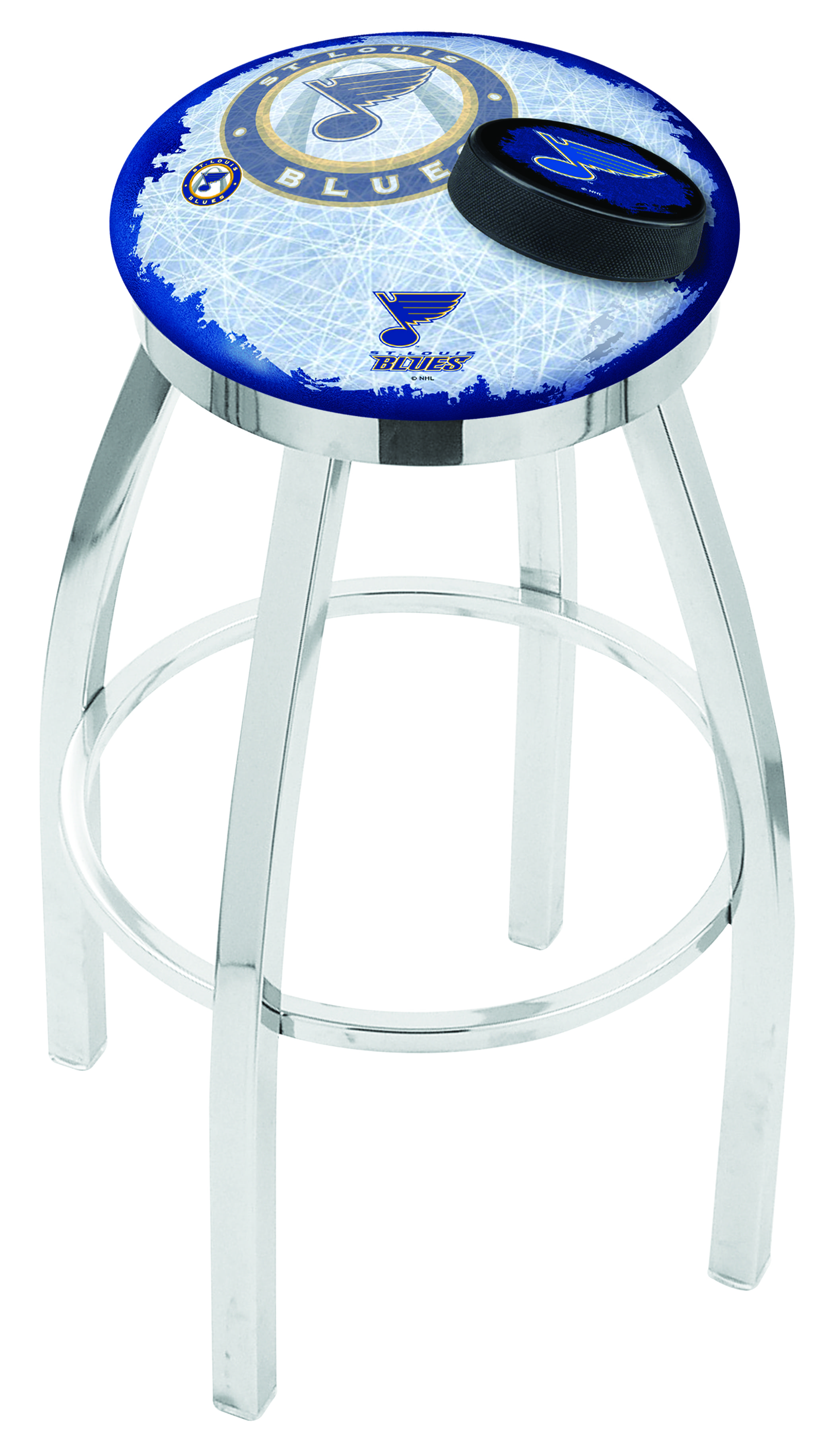 St Louis Blues Counter Height Bar Stool W Official Nhl