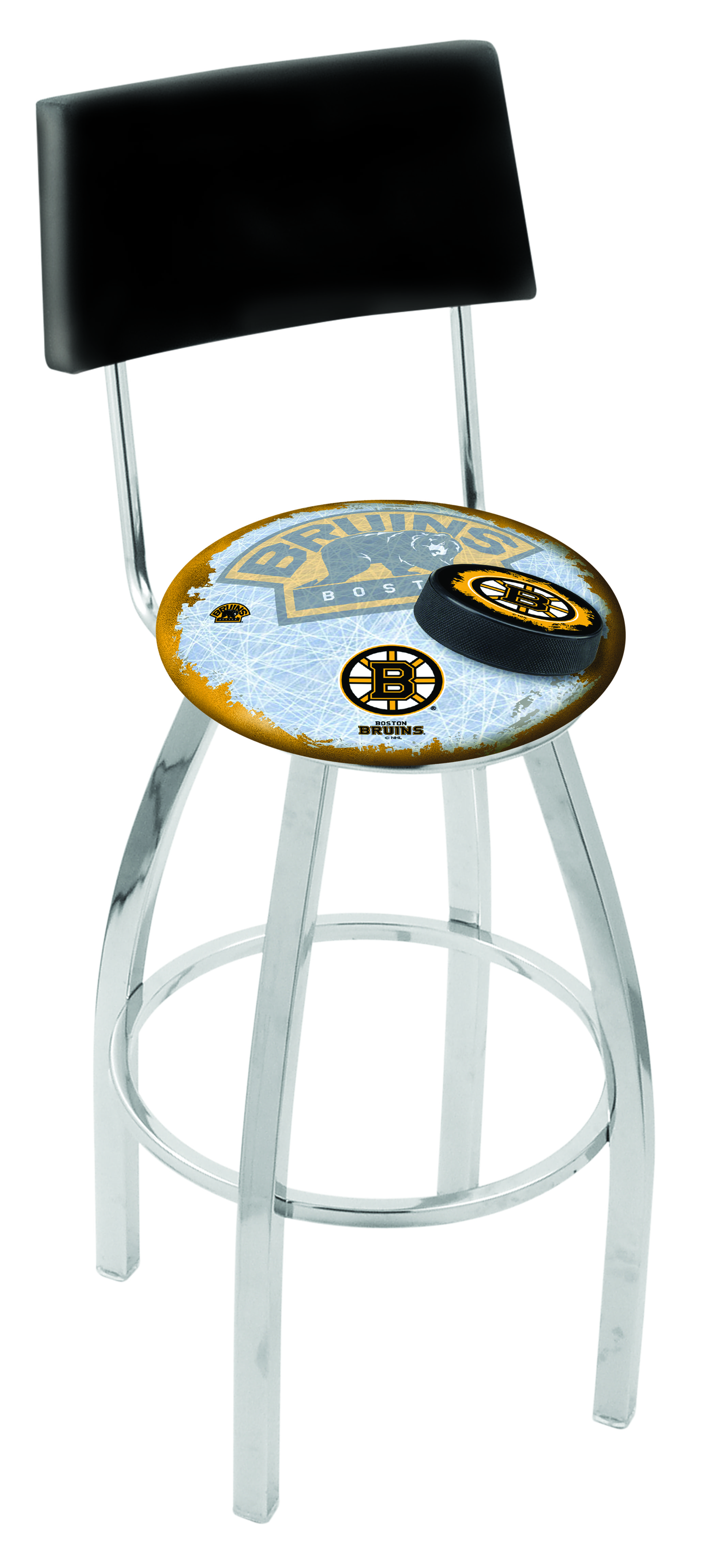 Boston Bruins Bar Stool W Official Nhl Logo Family Leisure
