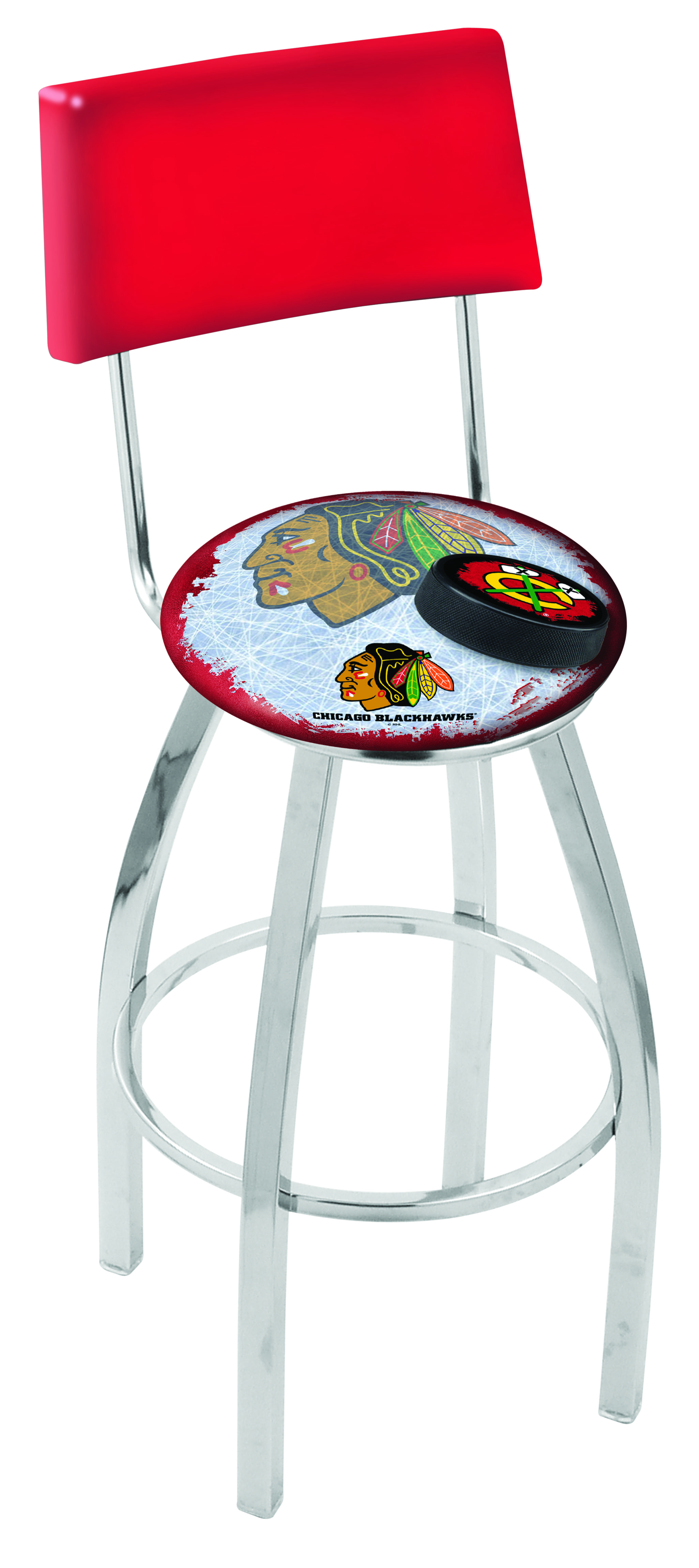 Chicago Blackhawks Counter Height Bar Stool W Red