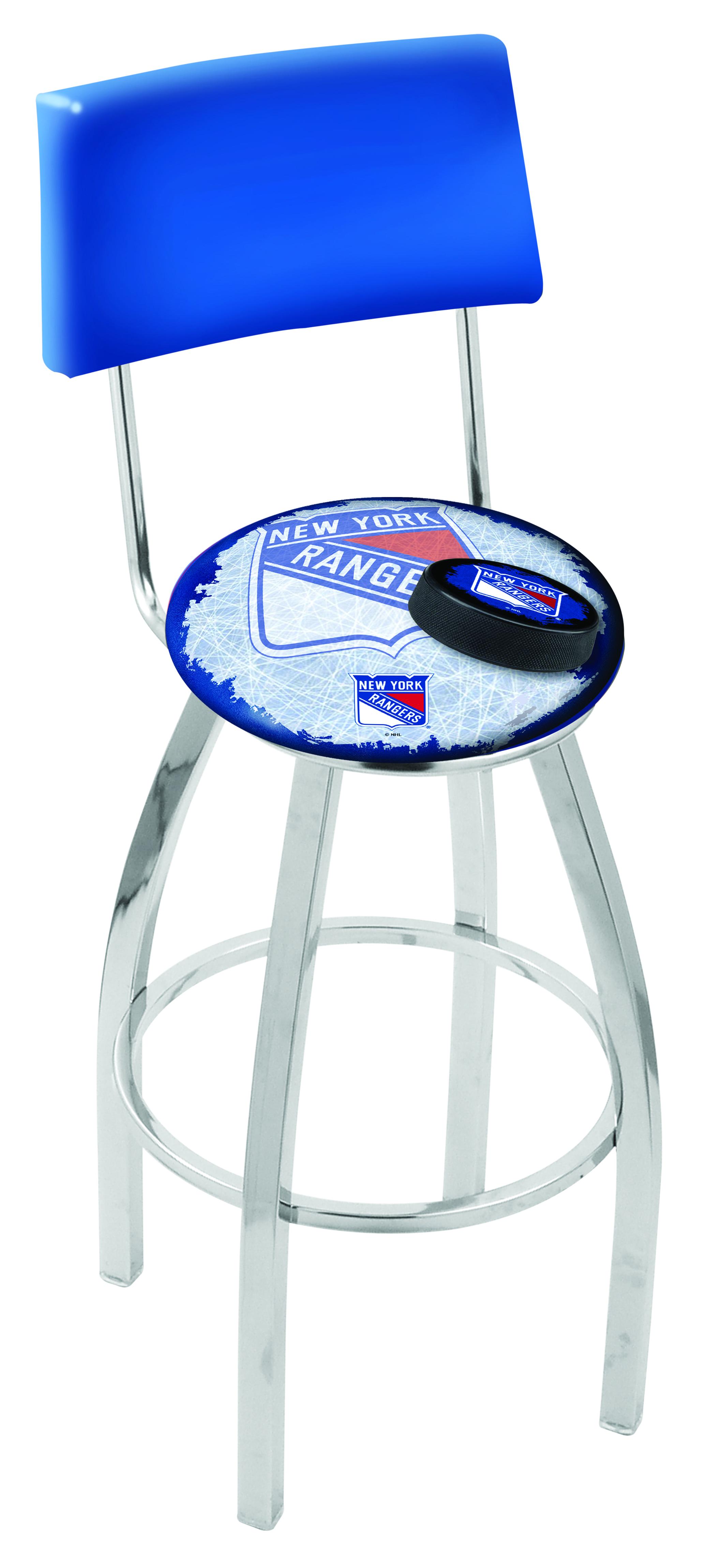 New York Rangers Bar Stool W Official Nhl Logo Family