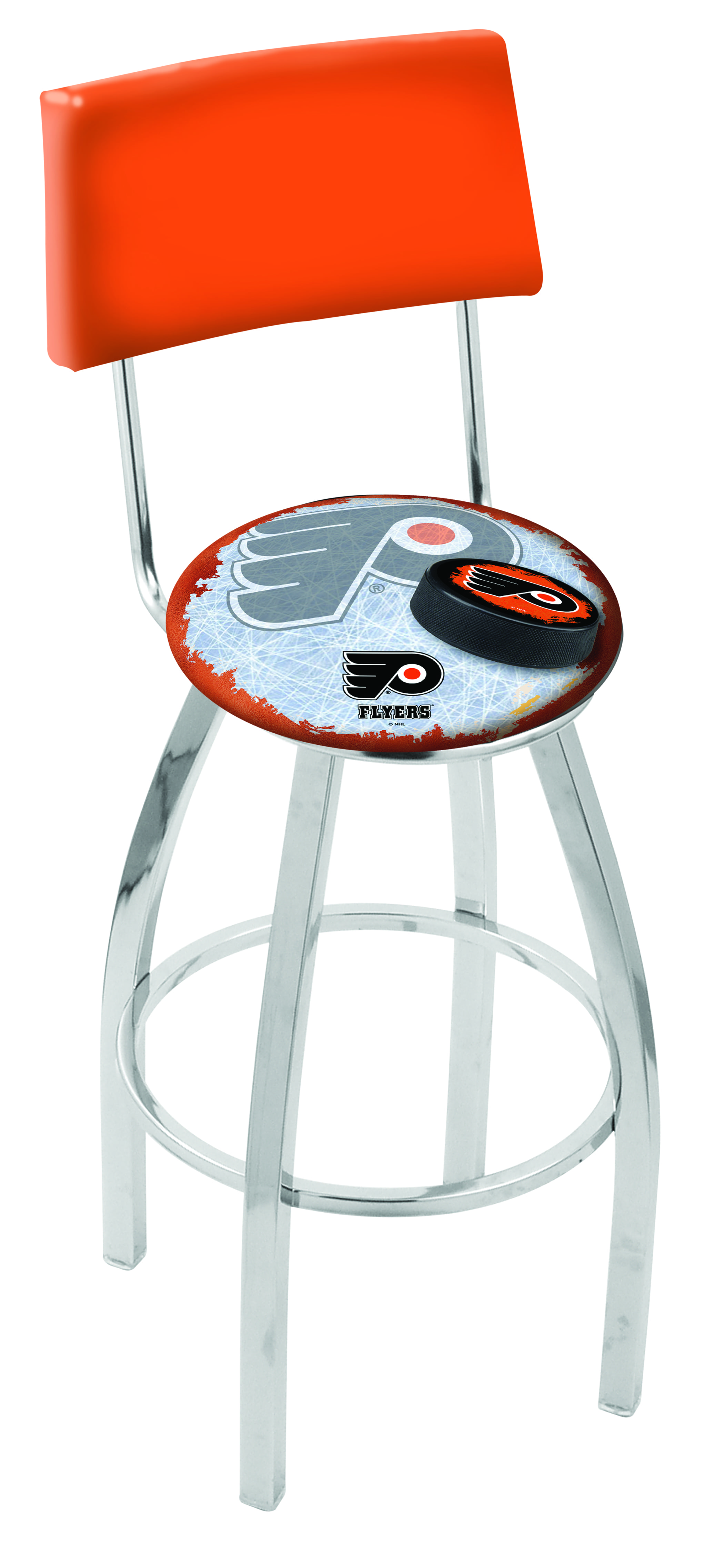 Philadelphia Flyers Bar Stool W Orange Background W