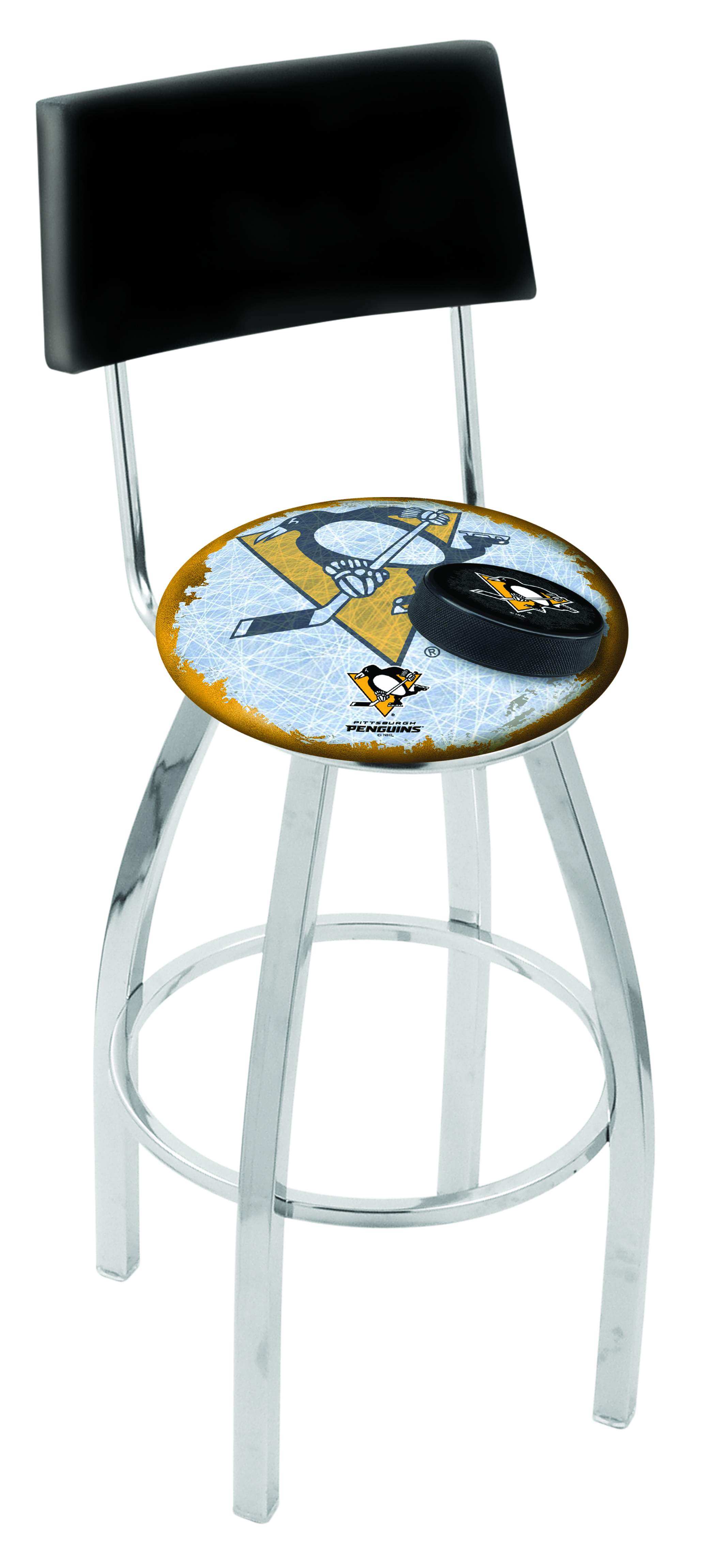 Pittsburgh Penguins Bar Stool W Official Nhl Logo
