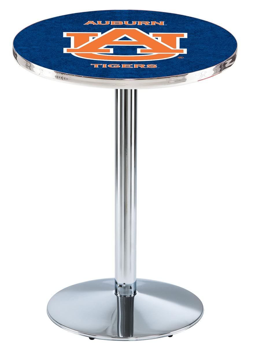 Auburn Pub Table 42 Quot Chrome W Official College Logo