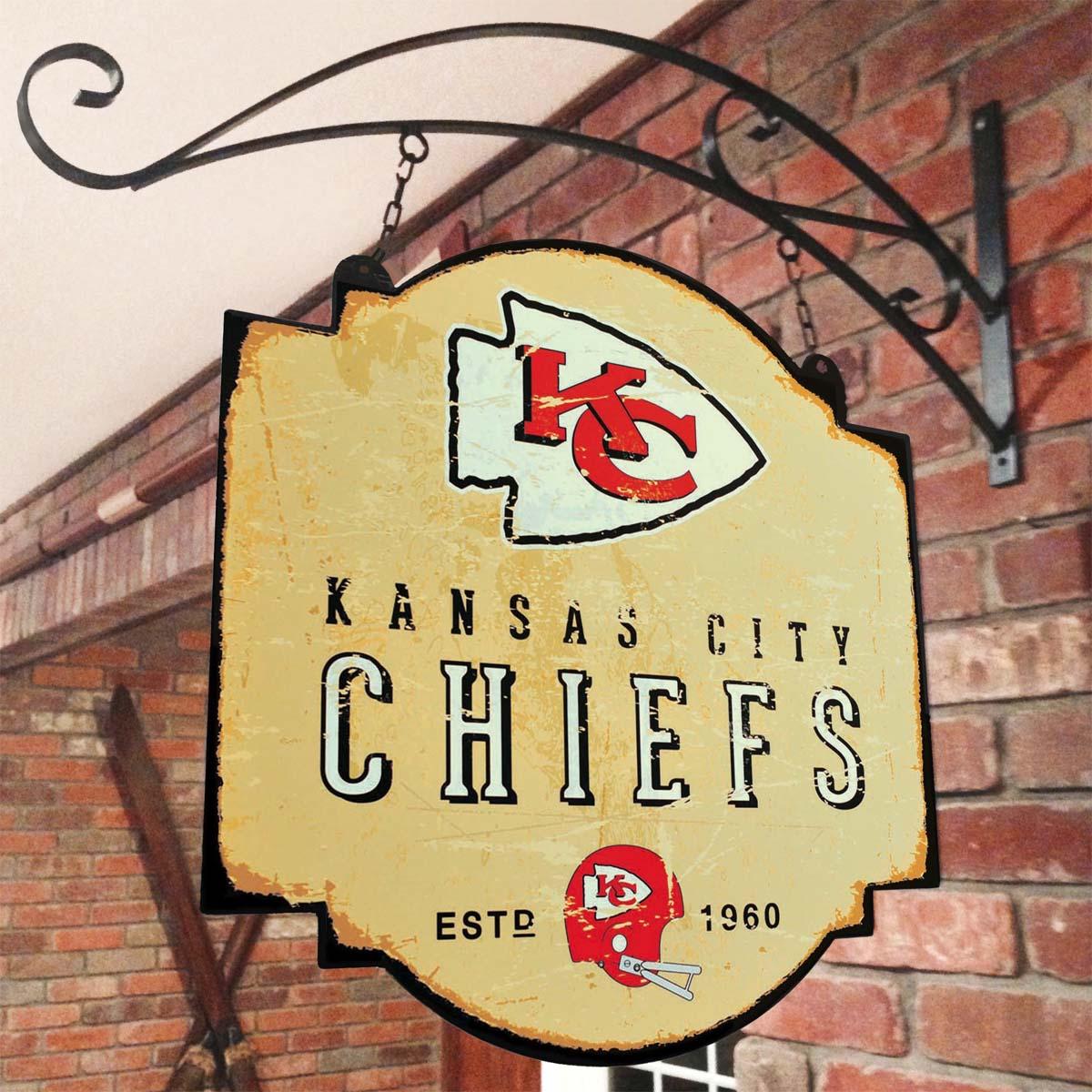 Kansas City Chiefs Vintage Tavern Sign