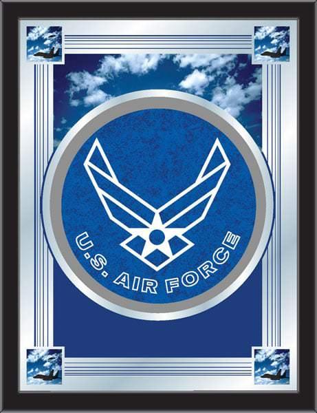 U S Air Force Logo Mirror 17x22 W Official Military Logo