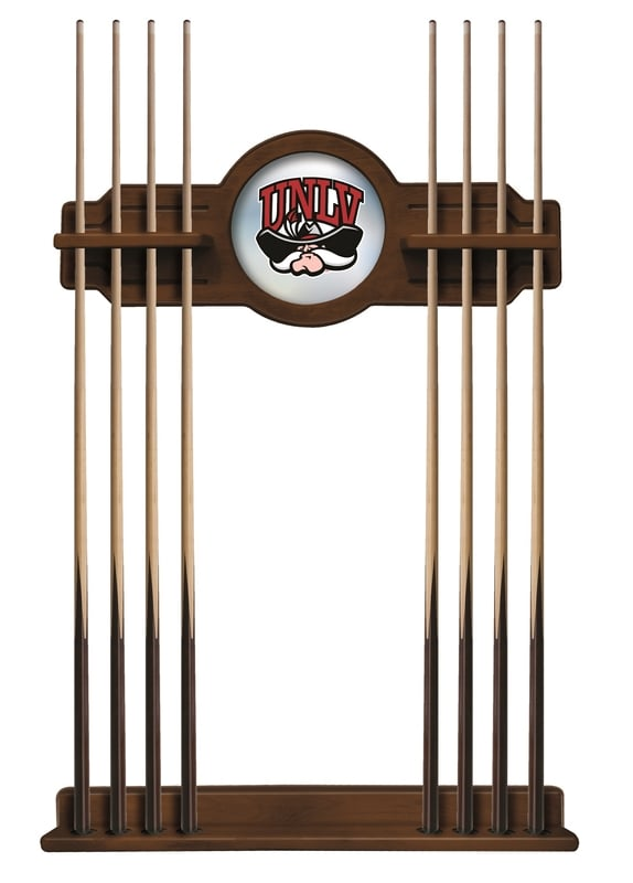 Unlv Cue Rack In Chardonnay Finish With Official Logo
