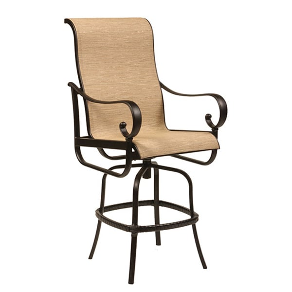 santa barbara sling dining collection by alu mont for hanamint