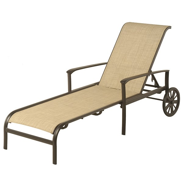 Edgewood adjustable sling chaise lounge by alu mont for for Alumont outdoor furniture