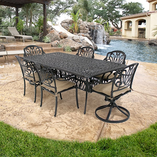 Luxe Dining Set By Leisure Select Patio Furniture