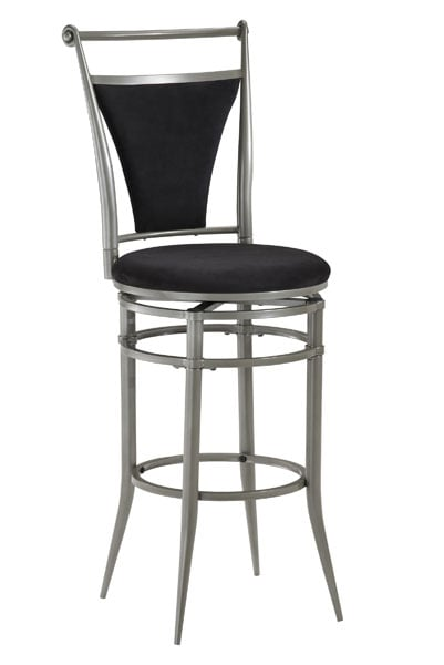 Cierra Swivel Counter Stool Black Fabric