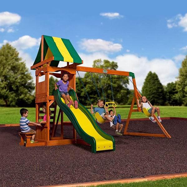 Weston Wooden Swing Set by Backyard Discovery