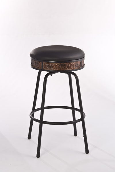 Howard Backless Metal Adjustable Barstool Nested Leg