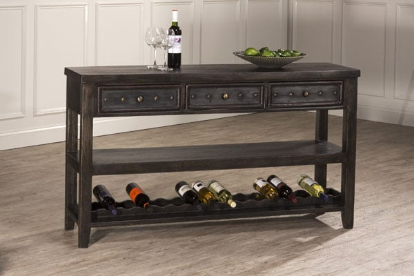 Bolt Console Table With Removable Wine Rack