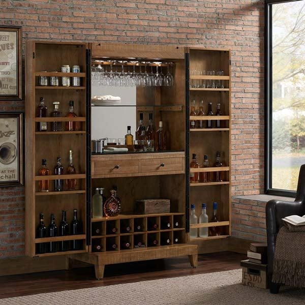 American Heritage Braxton Furniture: Braxton Wine Cabinet By American Heritage