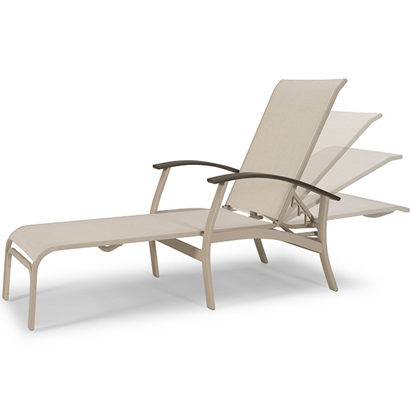 Belle isle sling chaise lounge for Casual chaise lounge