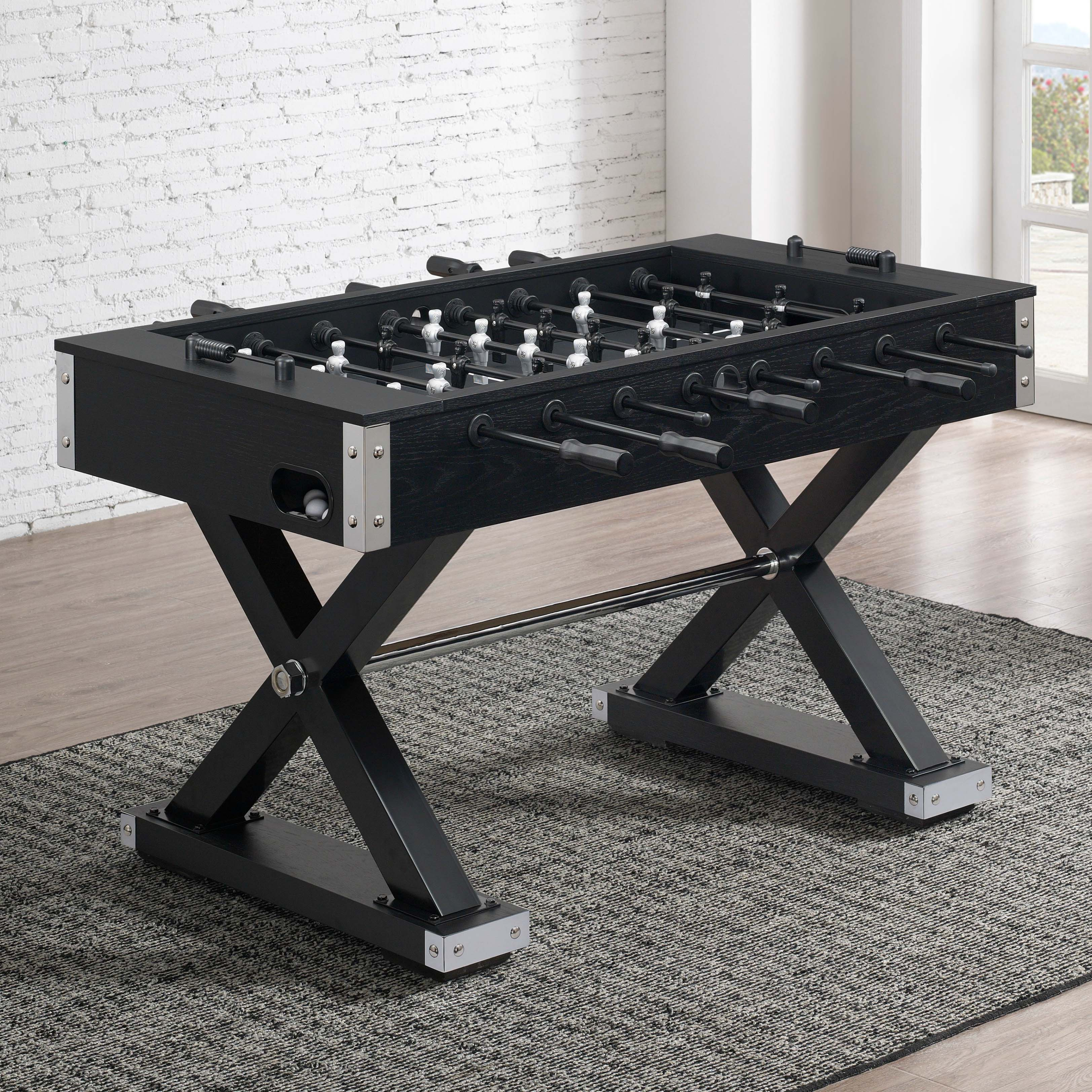 Element Foosball Table w Black and Chrome From American Heritage