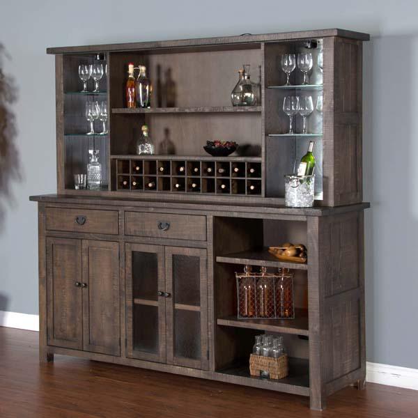 Gibraltar Bar Room Collection With Bar Back Bar Hutch