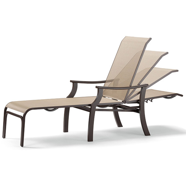 St catherine sling chaise lounge for Casual chaise lounge