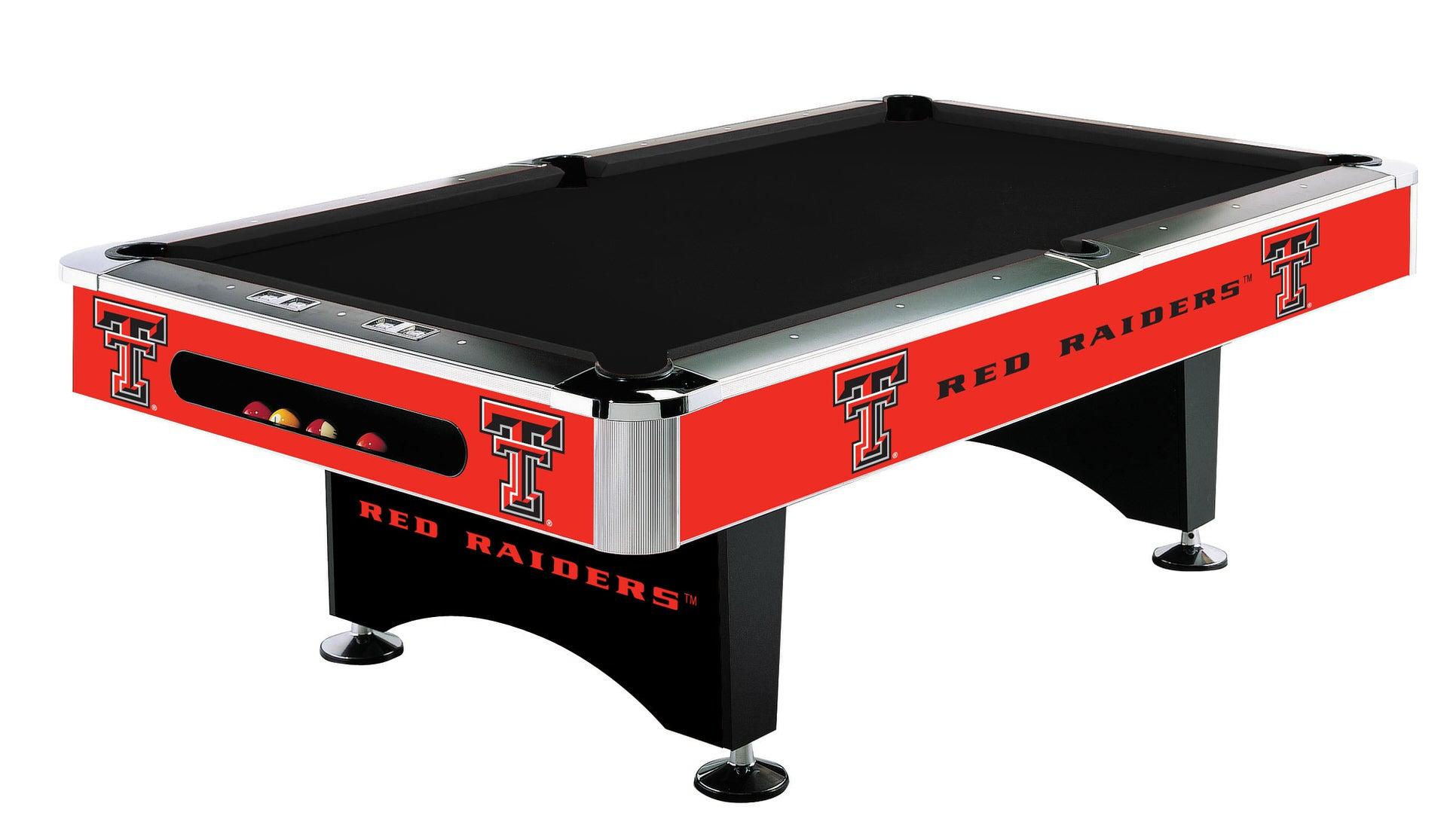 Attirant Red Raiders TX Tech Pool Table