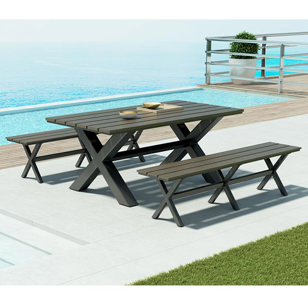 Zuo Modern Patio Furniture.Bodega Industrial Dining Set By Zuo Modern Patio Furniture