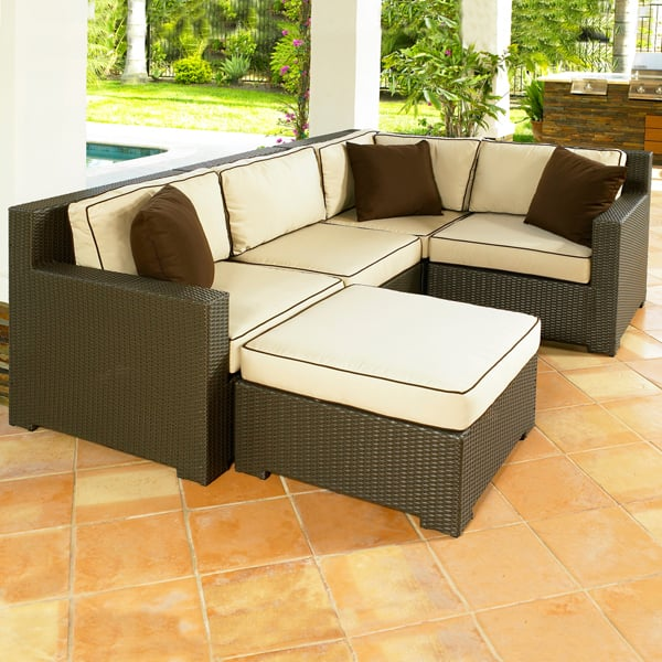 Malibu All Weather Wicker Sectional Collection By Chicago Wicker - Malibu outdoor furniture