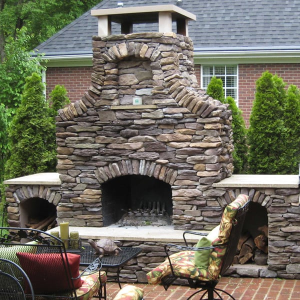 Baird fireplace project for Firerock fireplace cost