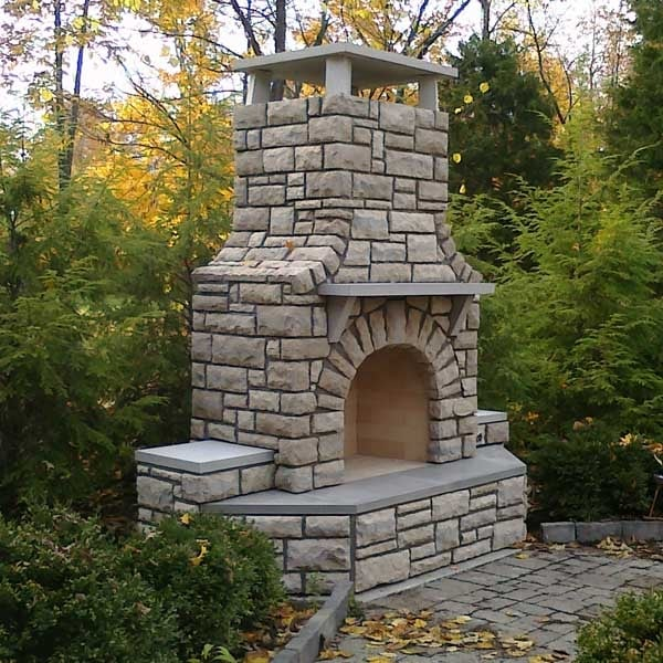 Bentley fireplace project for Isokern outdoor fireplace prices