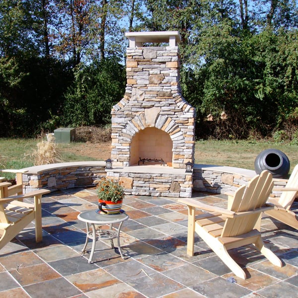 Williams fireplace project for Exterior grill design