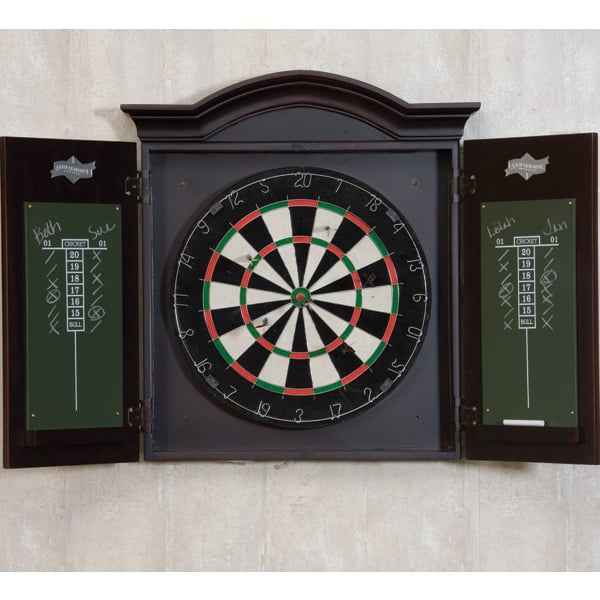 cabinets with doors dart board with wood cabinet by american heritage 13177