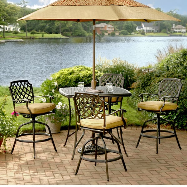 5 Piece Heritage Bar Height Patio Set by Agio