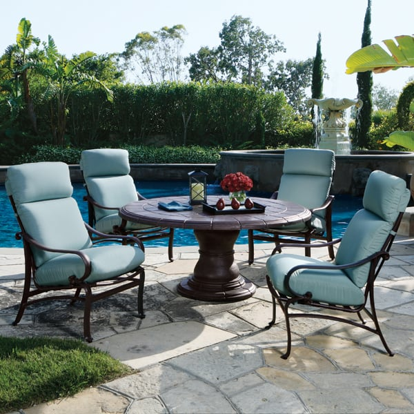 Comfort and Quality by Tropitone. It Simply Doesn't Get Any Better ... - The Radiance Cushion Patio Dining Set Tropitone Furniture