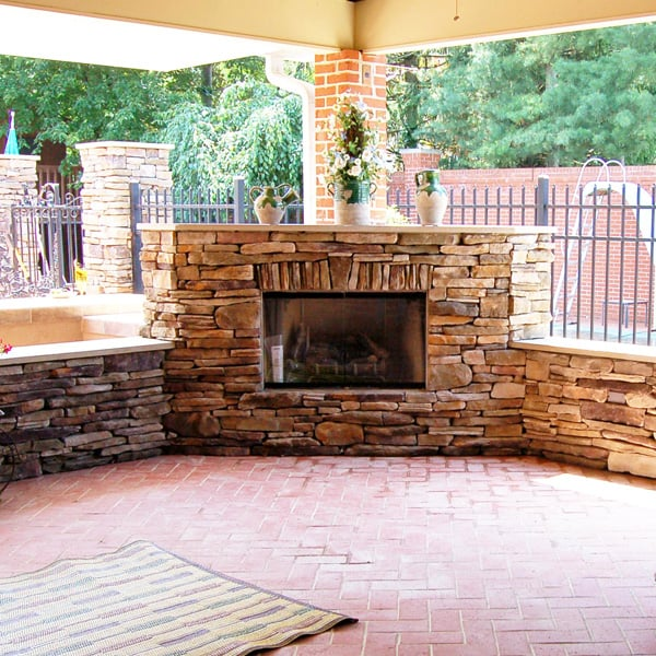 Sauter fireplace project for Outdoor rooms with fireplaces