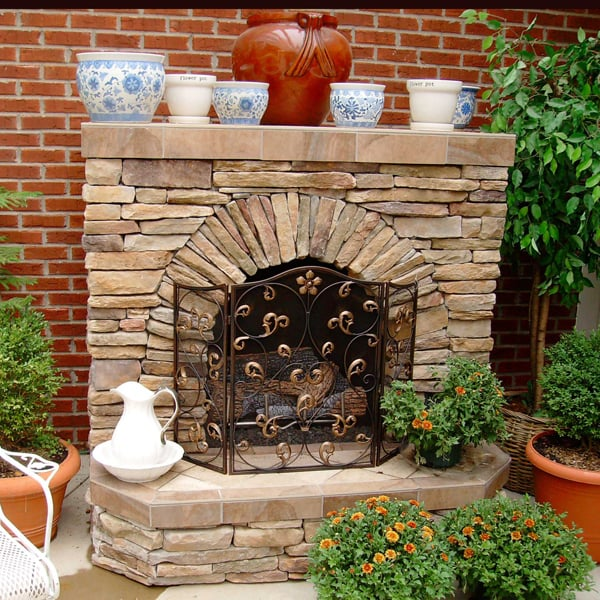Soma fireplace project for Outdoor rooms with fireplaces