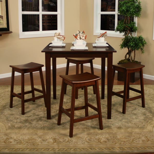 Saving Counter Height Dining Set With A Beautiful Table Four Stools