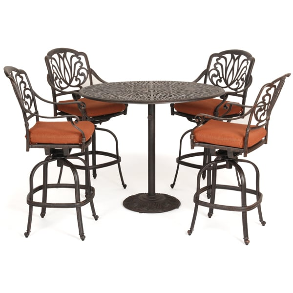 When it Comes to High Quality Outdoor Patio Furniture, Nobody Beats Caluco  ... - Florence Cast Aluminum Outdoor Bar Height Patio Set