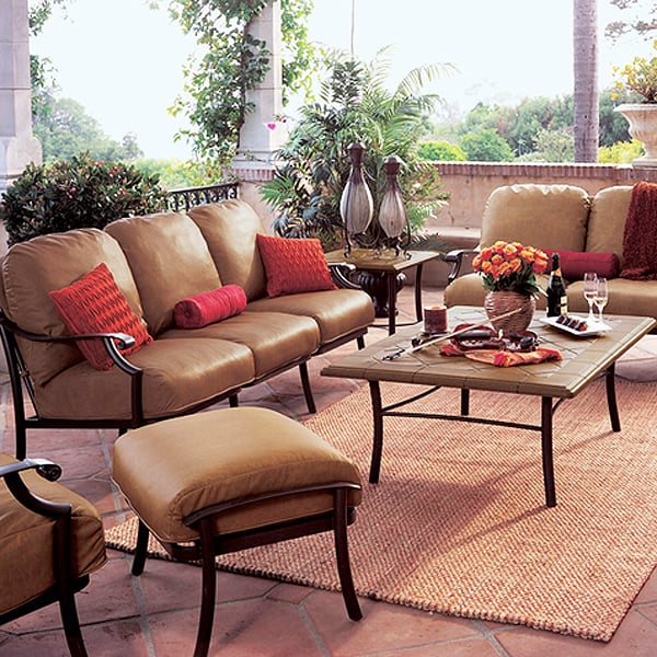 Montreux Cushion Dining Patio Furniture by Tropitone