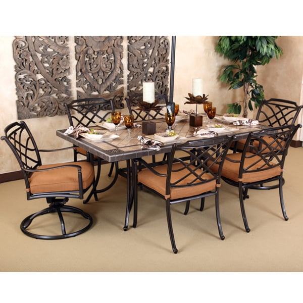 Willowbrook - 7 Piece Set by Agio Select  sc 1 st  Family Leisure & 7 Piece Willowbrook Aluminum Patio Set by Agio Select