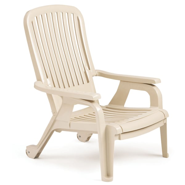Bahia Stacking Deck Chair Sandstone - 4 Pack by Grosfillex