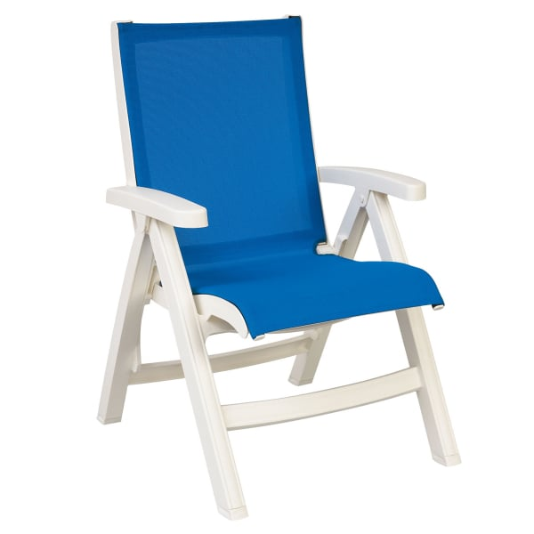 Belize Sling Chair White 2 Pack By Grosfillex