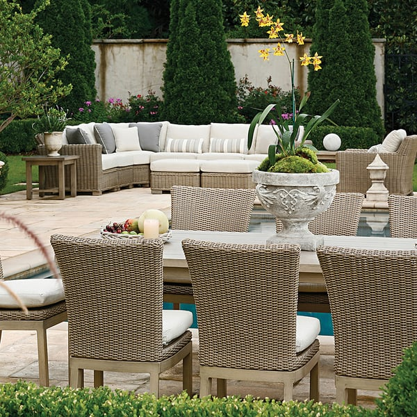 Rustic Woven Dining Patio Furniture by Summer Classics
