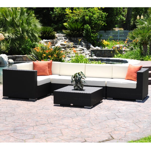 Sicily All Weather Wicker Outdoor Sectional Set