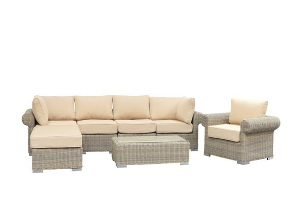 Sunset Wicker Sectional by Leisure Select