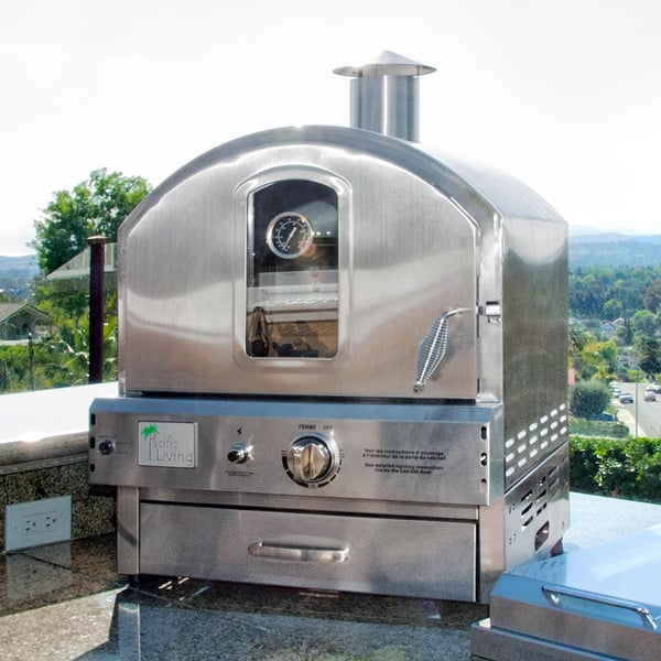 Countertop Pizza Oven Used : 304 Built-In / Countertop Outdoor Pizza Oven by Pacific Living