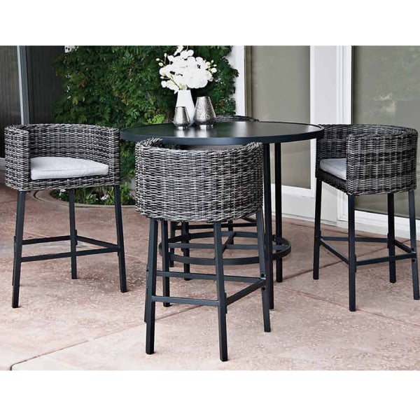 A Contemporary & Modern Take On The Traditional Wicker Patio Dining Set ... - 5 Piece Leisure La Danta Dining Set By Leisure Select