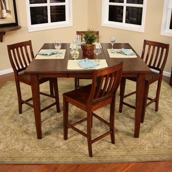 Pub Style Dining Set: Este Counter Height Pub Set By American Heritage