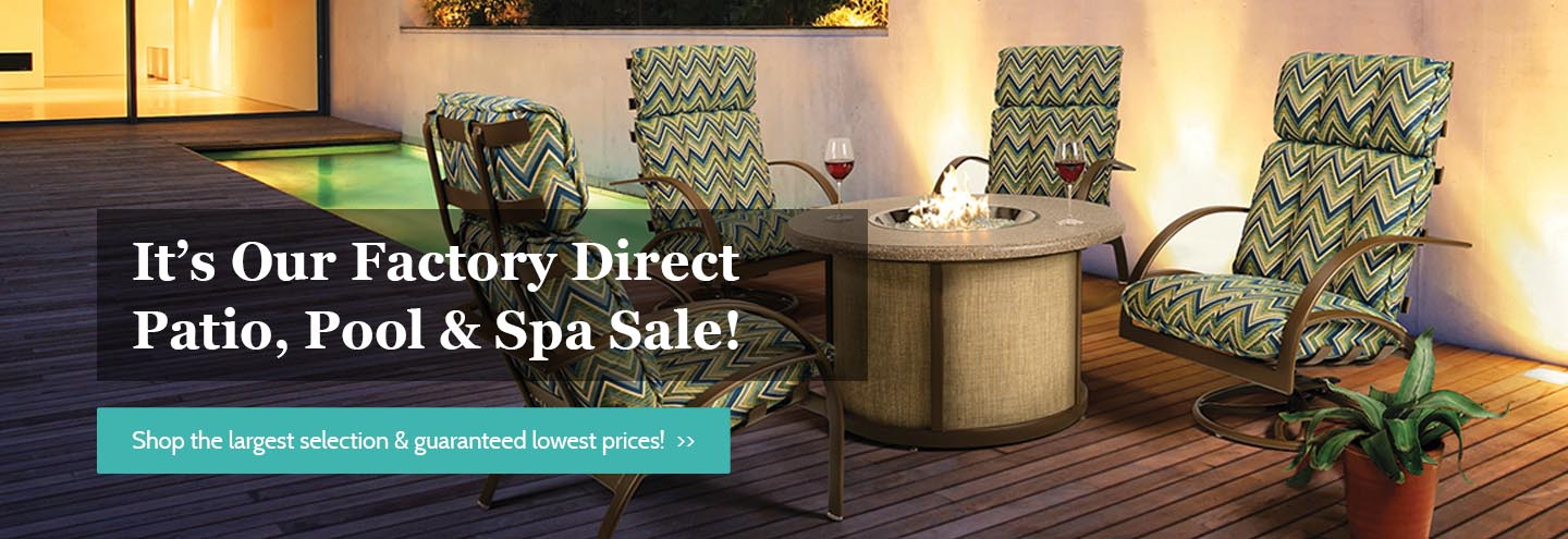 Factory Direct Patio Sale