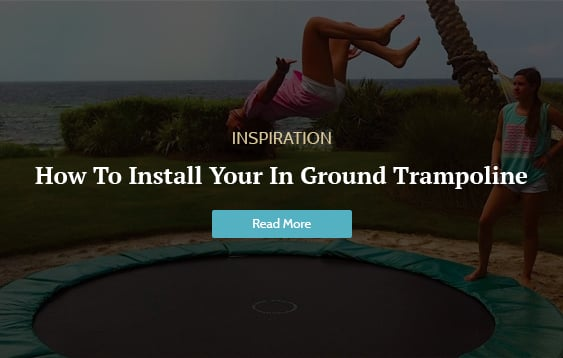 in ground trampoline install