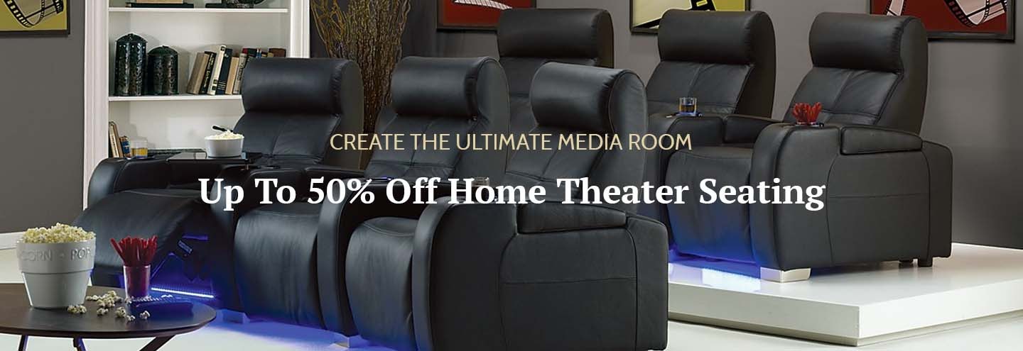 Up to 50% Off Home Theater Seating