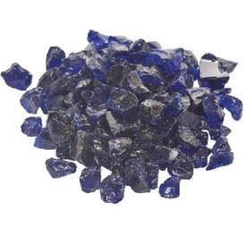 Dark Blue Fire Glass by Dagan Industries