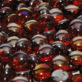 Sangria Luster Fire Beads by Leisure Select